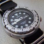 Analog display featured on Seiko Divers Watch
