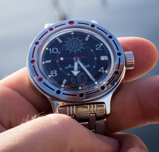 Vostok Amphibia Review – Life Aquatic dial