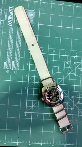 Homemade NATO from an IDE cable on Vostok diver