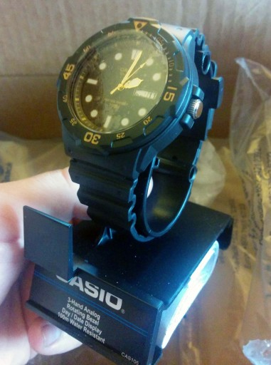 Casio MRW 200H out of its wrap