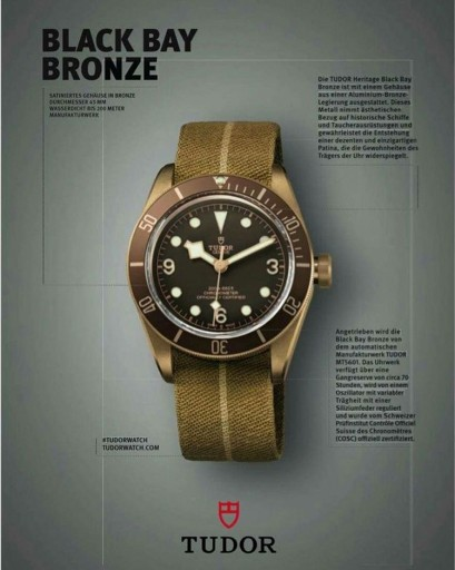 Tudor Black Bay Bronze dive watch release news