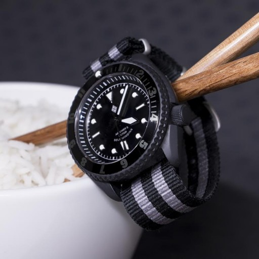 Highly modified, blacked out SKX007
