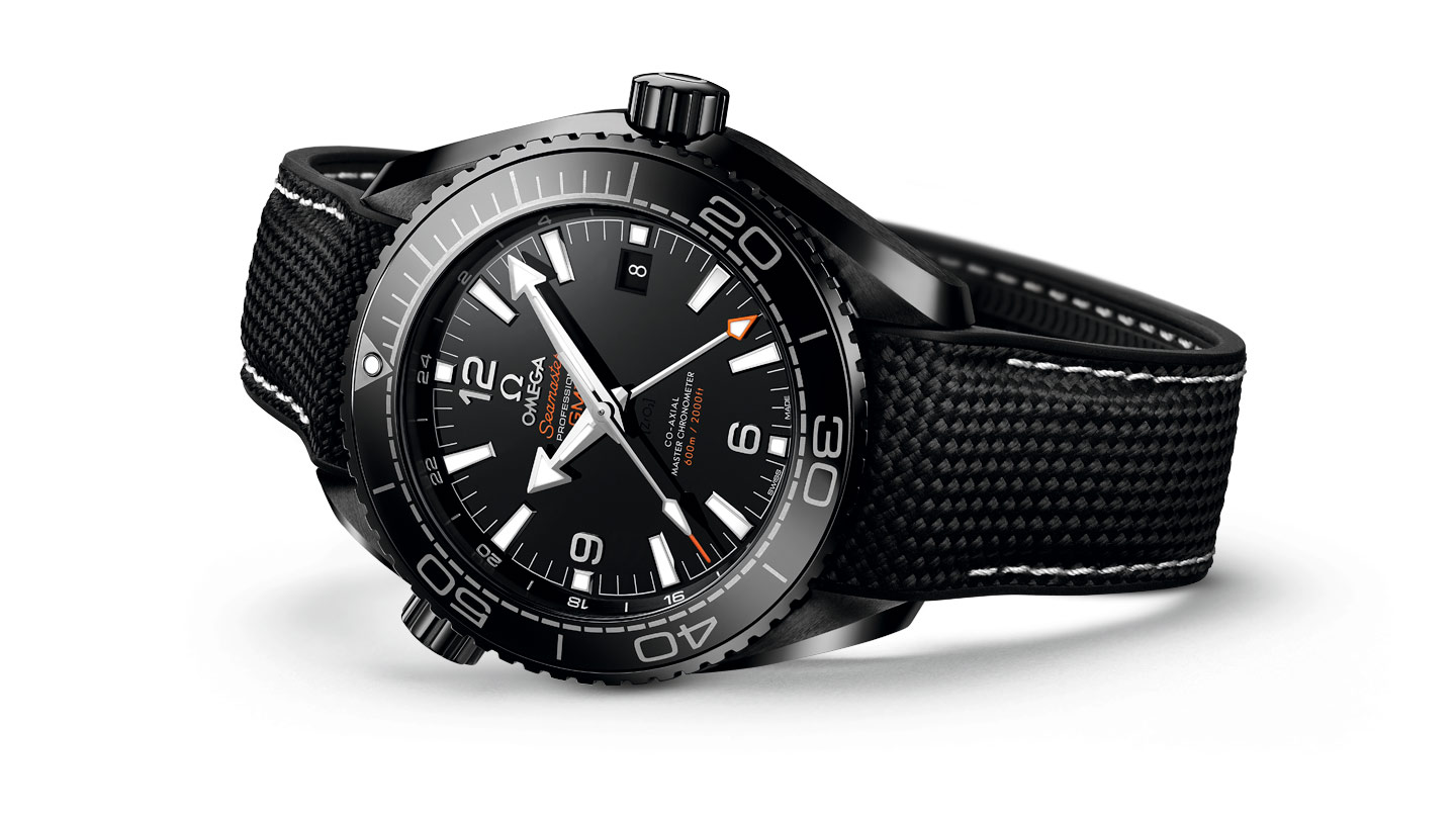 seamaster axial watches planet master deep m gmt co black omega in ocean