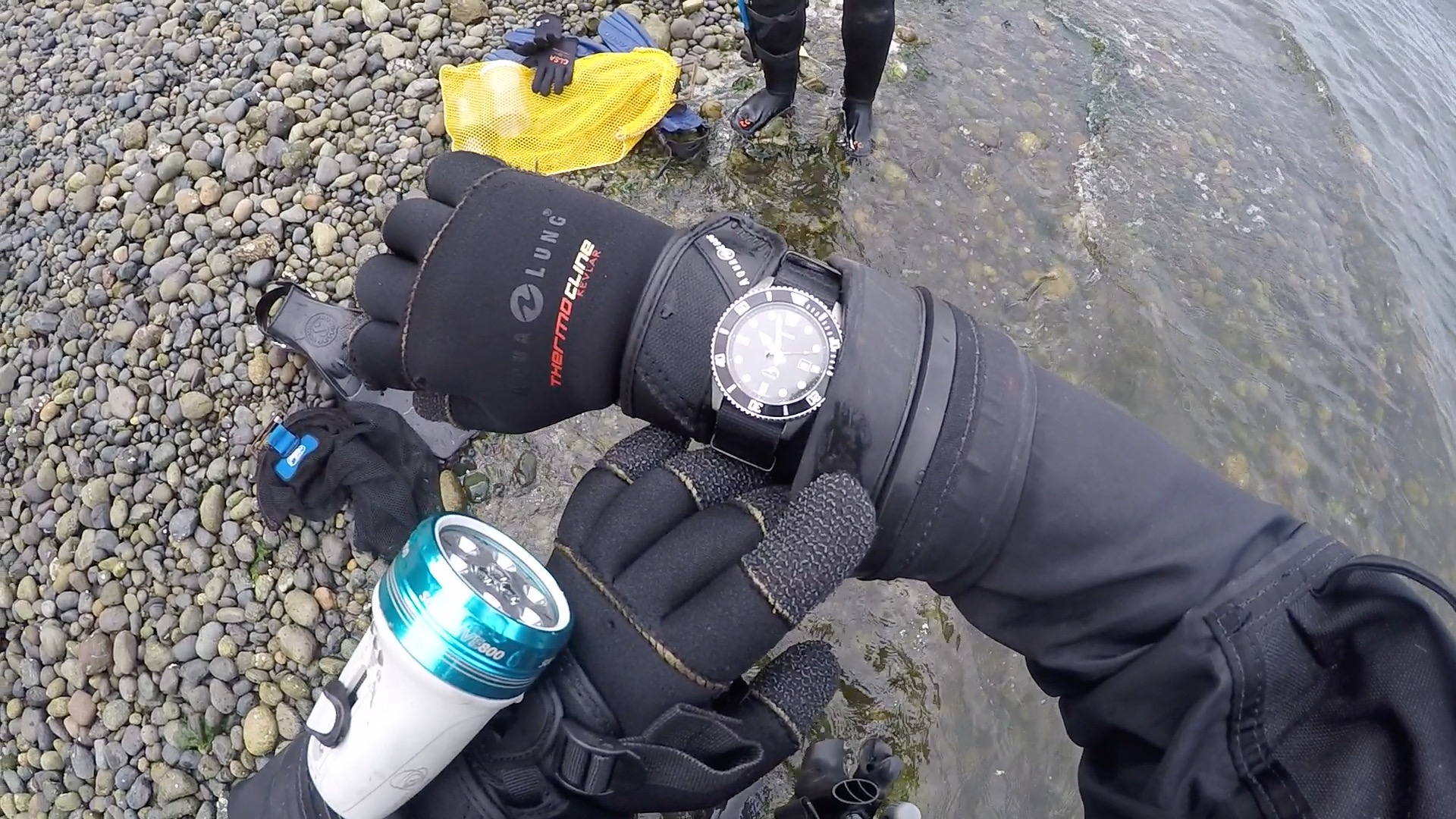 Casio MDV106-1A Diver Wristshot On Beach