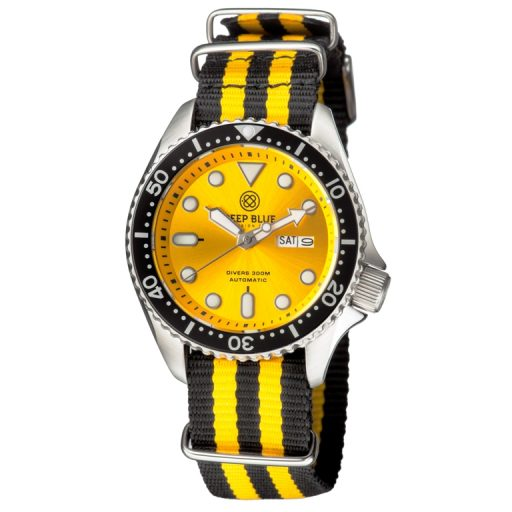 Deep Blue NATO Diver 300 Yellow