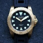 Helson Shark Diver Brass Black