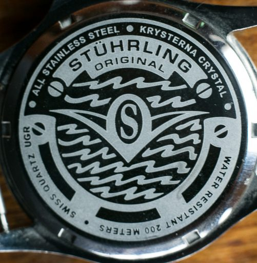 Stuhrling Aquadiver Regatta Review – Caseback