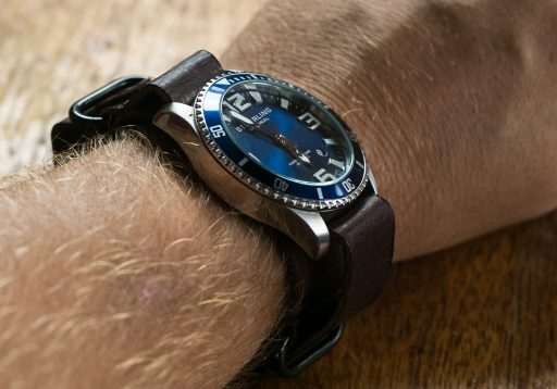 Stuhrling Aquadiver Regatta Review – Wrist Leather