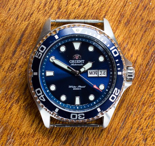 Orient Ray II Dive Watch Review – Dial view