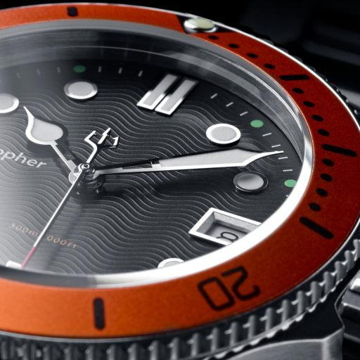 Christopher Ward C60 Trident 300 Orange Dial