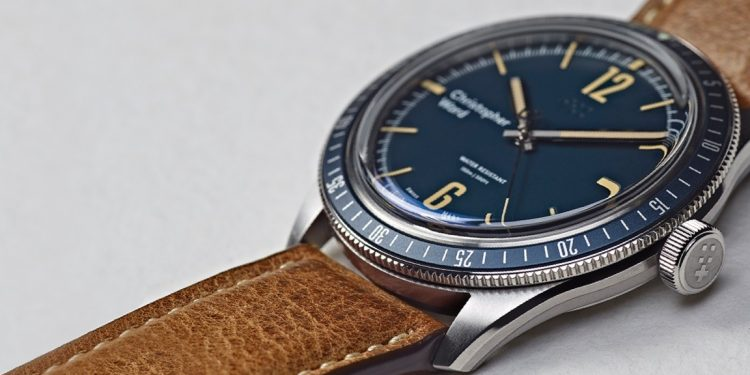 Christopher Ward Retro C65 Trident Diver blue banner