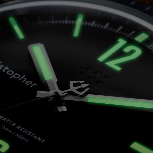 Christopher Ward Retro C65 Trident Diver dial lume