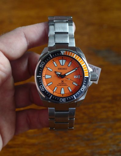 Seiko SRPC07 Orange Samurai Review - The dial