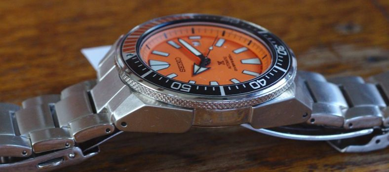 Seiko Orange Samurai Review - Left Side