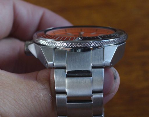 Seiko SRPC07 Orange Samurai Review - Top Side
