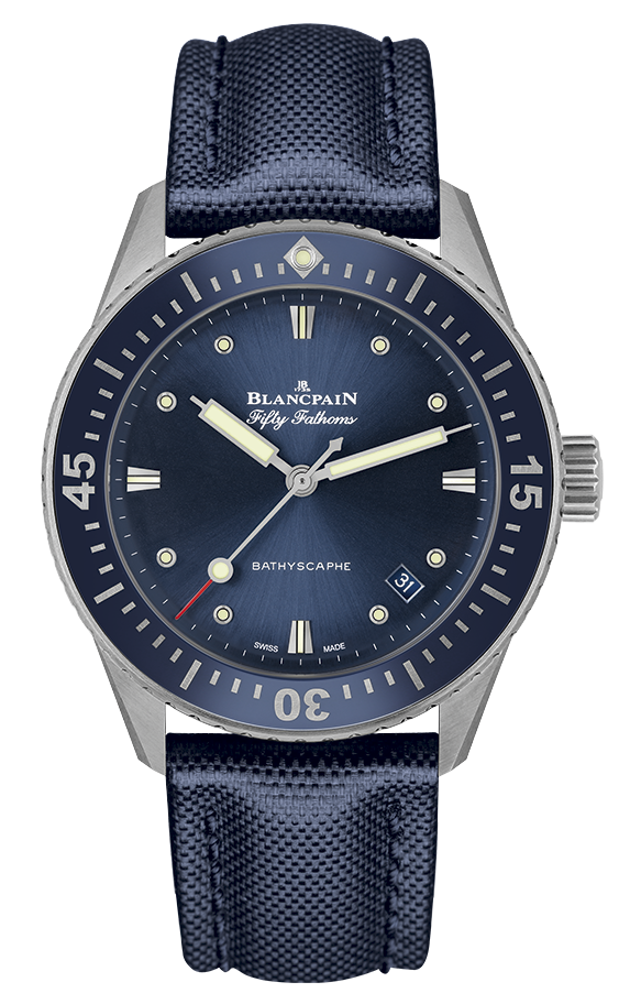 Best Ladies Dive Watches - Blancpain Fifty Fathoms Bathyscaphe Blue