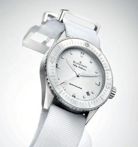 Blancpain Fifty Fathoms Bathyscaphe White Lady