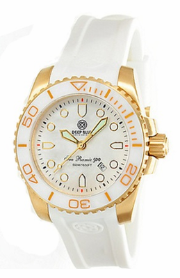 Best Women's Dive Watches - Deep Blue Sea Ramic Gold