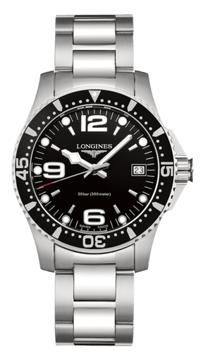 Best Ladies Dive Watches - Longines HydroConquest Black Steel