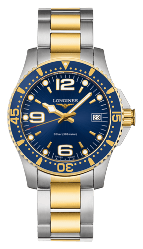 Best Ladies Dive Watches - Longines HydroConquest Blue Yellow Steel