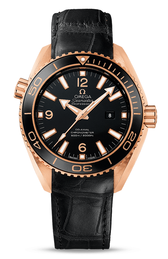 Best Women's Dive Watches - Omega Seamaster Planet Ocean 600m Red Gold