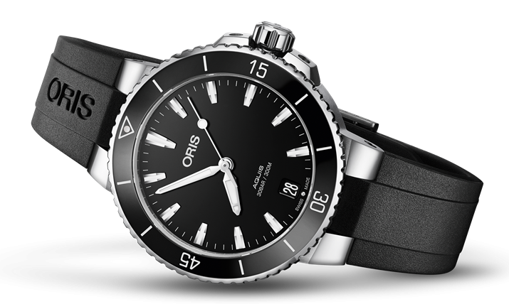 Best Ladies Dive Watches - Oris Aquis Date Black Rubber