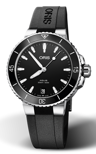 Best Women's Dive Watches - Oris Aquis Date Black Rubber