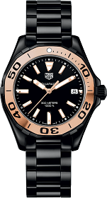 Best Women's Dive Watches - Tag Heuer Aquaracer 300M 35mm Black Gold Ceramic