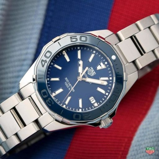 Best Ladies Dive Watches - Tag Heuer Aquaracer 300M 35mm Blue Steel