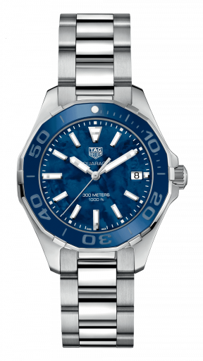 Best Women's Dive Watches - Tag Heuer Aquaracer 300M 35mm Blue Steel